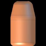 CMJ .38-357 158gr Flat Point