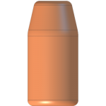 CMJ .38-357 180gr Flat Point