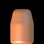 CMJ 9mmP 124gr Flat Point